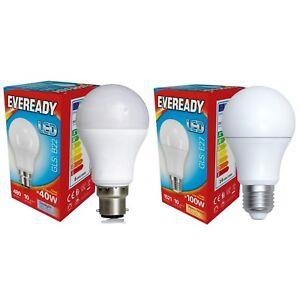 Eveready LED GLS Light Bulb Lamp E27 Edison Screw ES Warm White 40w 60w 100w