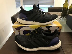 check out bf861 8d642 Details about 2018 ADIDAS UltraBoost OG G28319 Core Black Gold Metallic  Purple 12 Ultra Boost