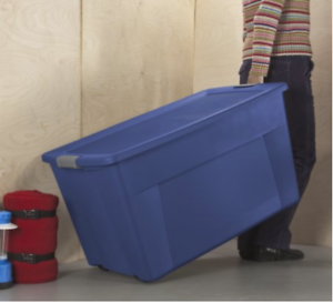 Image Is Loading Sterilite Storage Containers Bins With Wheels Garage Large