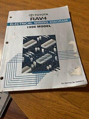 1996 toyota rav4 wiring diagram 1996 toyota rav4 electrical wiring diagram manual ebay  1996 toyota rav4 electrical wiring