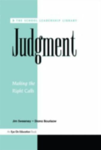 Judgement : Making the Right Calls Paperback Jim Sweeney