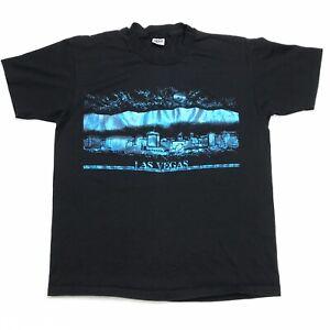 VTG-LAS-VEGAS-NEVADA-HOLOGRAPHIC-TOURIST-BLACK-SINGLE-STITCH-USA-MADE-T-SHIRT-XL