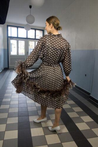 Dress Trump Pleated '80 anni True Rockabilly '80 a abito Vintage pieghe donna anni 55ZrTqwp