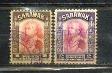 1934  Malaya Malaysia Sarawak Old Stamps $1 & $ 2
