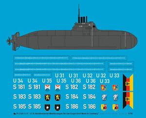 Peddinghaus-1-70-3320-Bundesmarine-U-31-U36-Markierungen-fur-das-Engel-Boot