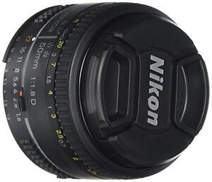 Nikon AF FX NIKKOR 50mm f/1.8D Lens with Auto Focus for Nikon DSLR Cameras 18208021376