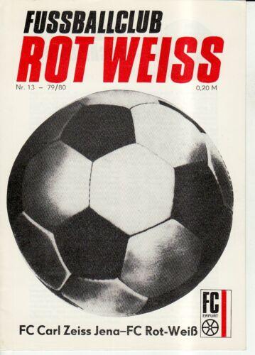 FC Carl Zeiss Jena OL 79//80  FC Rot-Weiss Erfurt