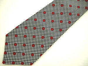 Turnbull-amp-Asser-Mens-Necktie-Tie-Navy-Blue-Grey-Red-Houndstooth-Plaid-Polka-Dot