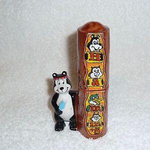 Hamm's Beer Bear Totem Pole Indian Stacking Salt and Pepper Shaker Set JAPAN