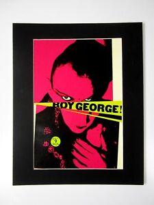 Antiguo-Anuncio-Impresion-Trasero-Passepartout-Boy-George-Culture-Club-50x40-CM