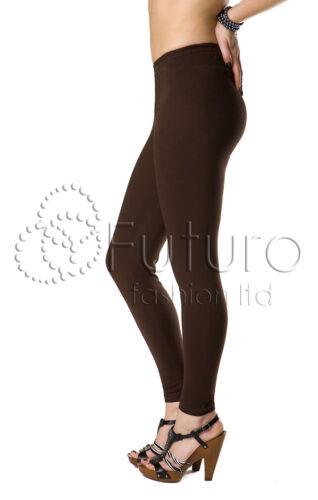 Damen Leggings Baumwolle Langes Bein Hose Bunt Blickdicht Hauteng 36-56