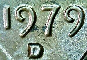 1979 D MEMORIAL CENT STRONG DOUBLED DIE OBV & REV NICE RPM EAR VARIETY UNC BU MS