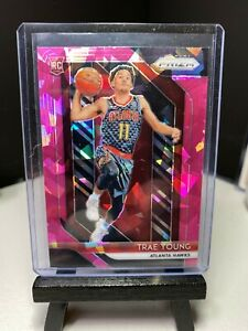 2018-19-Panini-PRIZM-Basketball-TRAE-YOUNG-Rookie-Pink-Cracked-Ice-PRIZM-Card-RC