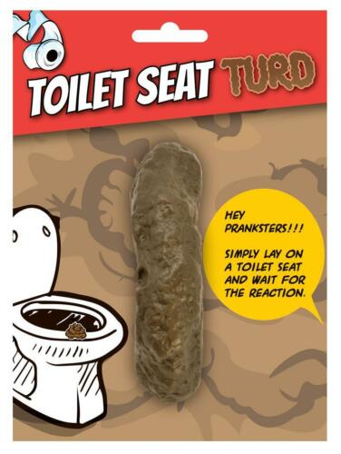 Funny Fancy Party Fake Artificial Poo Prop Tricky Evil Jokes Toilet Seat Turd