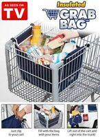 Insulated Grab Bag As Seen On Tv Clip To Cart Shopping Bag