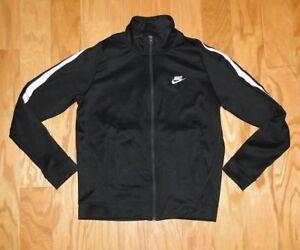 Nike Sportswear Tribute Polyknit N98 Jacket Mens Black White 861648 010 NWT