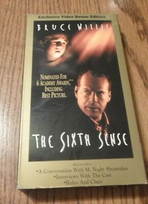 The Sixth Sense (VHS, 2000, Bonus Edition) Bruce Willis Haley Joel Osment  786936134858 | eBay