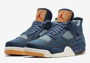 outlet store e86c8 facbb Image is loading Nike-Air-Jordan-Retro-4-Levi-039-s-