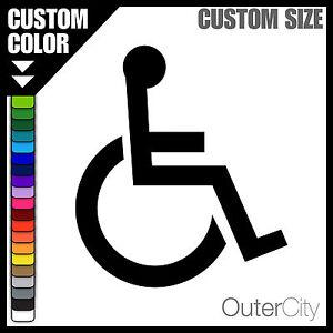 handicap logo decal wheelchair car parking bathroom door access