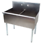36-034-2-Compartment-18-034-x-21-034-x14-Stainless-Steel-Commercial-Utility-Prep-Two-Sink thumbnail 9