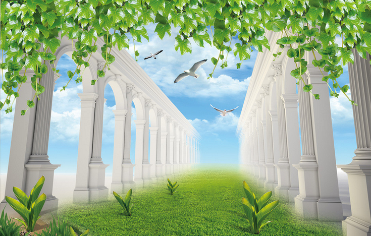 3D Lawn Trees 652 Wallpaper Murals Wall Print Wallpaper Mural AJ WALL AU Lemon