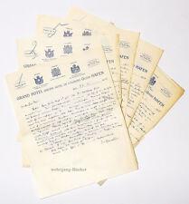 1. Weltkrieg, Oberst Ferd. Freiherr von Reitzenstein, 5 Feldpost-Briefe 1914-15