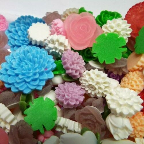 Mixed Floral Cabochons Sold by Weight  Flat Back 10mm to 30mm  Flower Petal