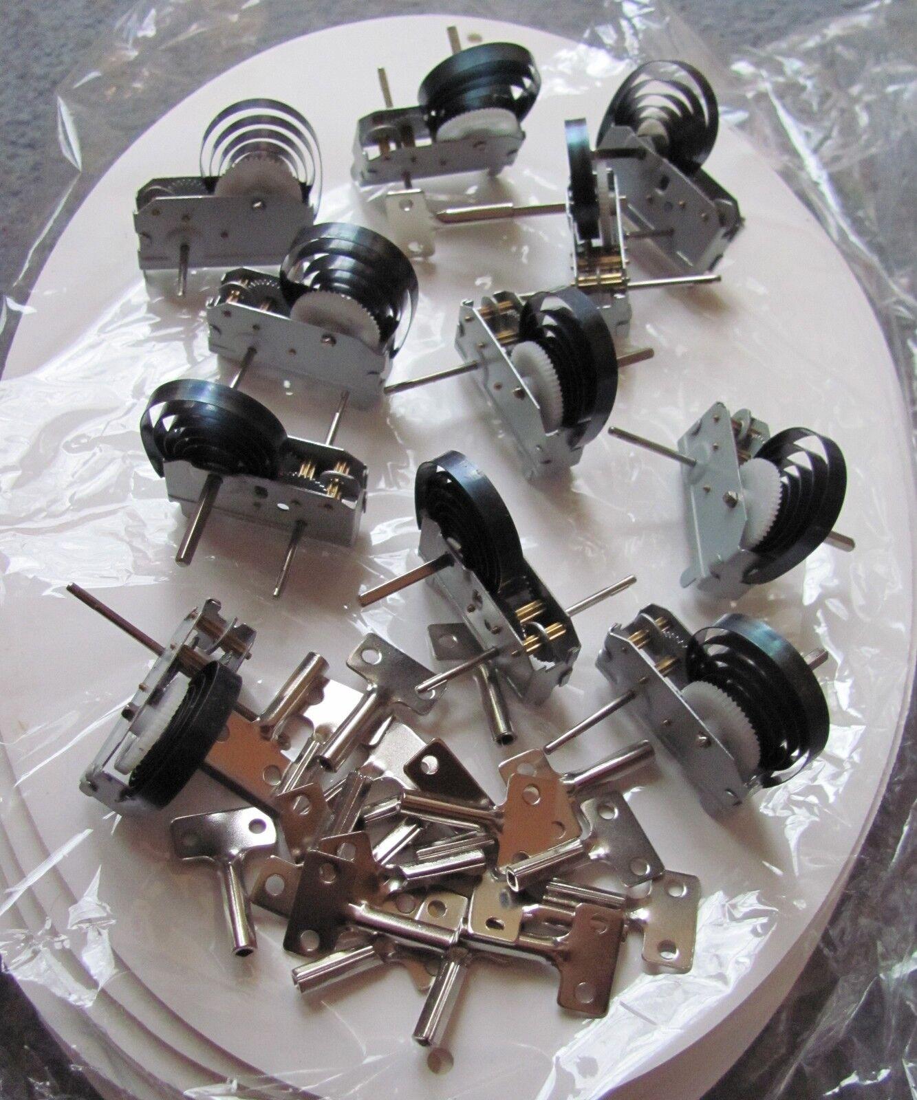 100 X motor de relojería + 100 Llaves. Juguete Educativo Cerradura de trabajo terminan haciendo
