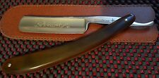 "Straight razor by Windrose ""Full Hollow Ground"" 6/8th Shave ready!! Red Horn."