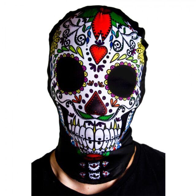7b6baf66664 Day of The Dead Fancy Dress Halloween Mask and Headband Girls Ladies Womens