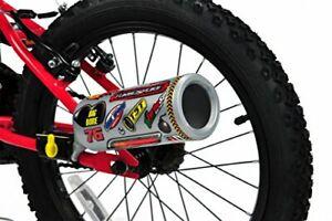 Kids Bike Turbospoke Exhaust System,Boys Motorbike Engine with Stickers & Sounds