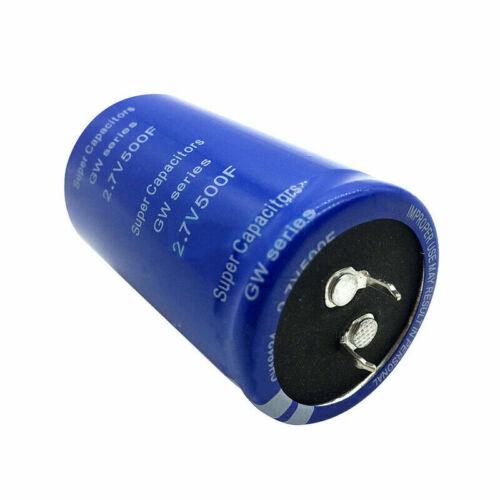 6pcs 2.7V 500F Farad Capacitor Electrolytic Super Capacitance Equipment Parts
