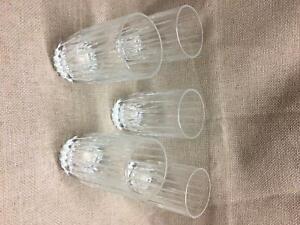 Set-of-5-Vintage-Crystal-Facets-Beverage-Highball-Glasses-8oz