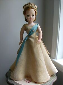1957-Madame-Alexander-Gold-Brocade-Gown-tagged-Cissy-and-Crown-NO-DOLL
