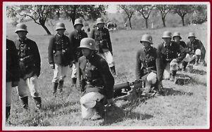 German WW2 Third Reich postcard WEHRMACHT Soldiers with machine guns MG 08 RPPS