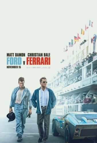 "Ferrari version 2 Movie Poster 24/"" x 36/"" or  27/""x 40/"" Ford v"