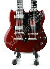 Miniature Guitar JIMMY PAGE. Led Zeppelin. DOUBLE NECK SG