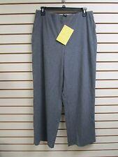 QVC Dialogue Brushed Twinstretch Wide Leg Pants Charcoal Grey 18W - NWT