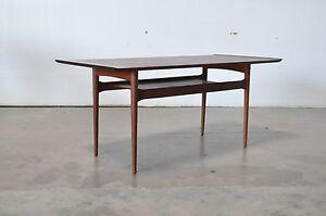 Mid Century Danish Modern Teak Wood Tall Coffee Sofa Table Jalk EBay