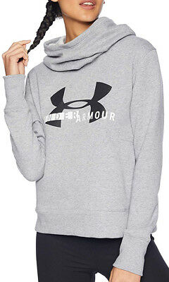 Under Armour Rival Fleece Logo Womens Hoody - Grey Ein BrüLlender Handel
