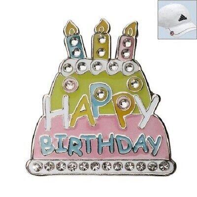 Incredible Navika Posh Golf Ball Marker Birthday Cake With Hat Clip Swarovski Personalised Birthday Cards Arneslily Jamesorg