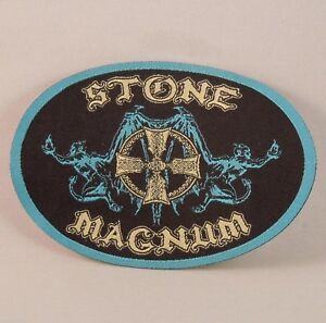STONE-MAGNUM-Band-Logo-Woven-Patch-R-I-P-Records-NEW