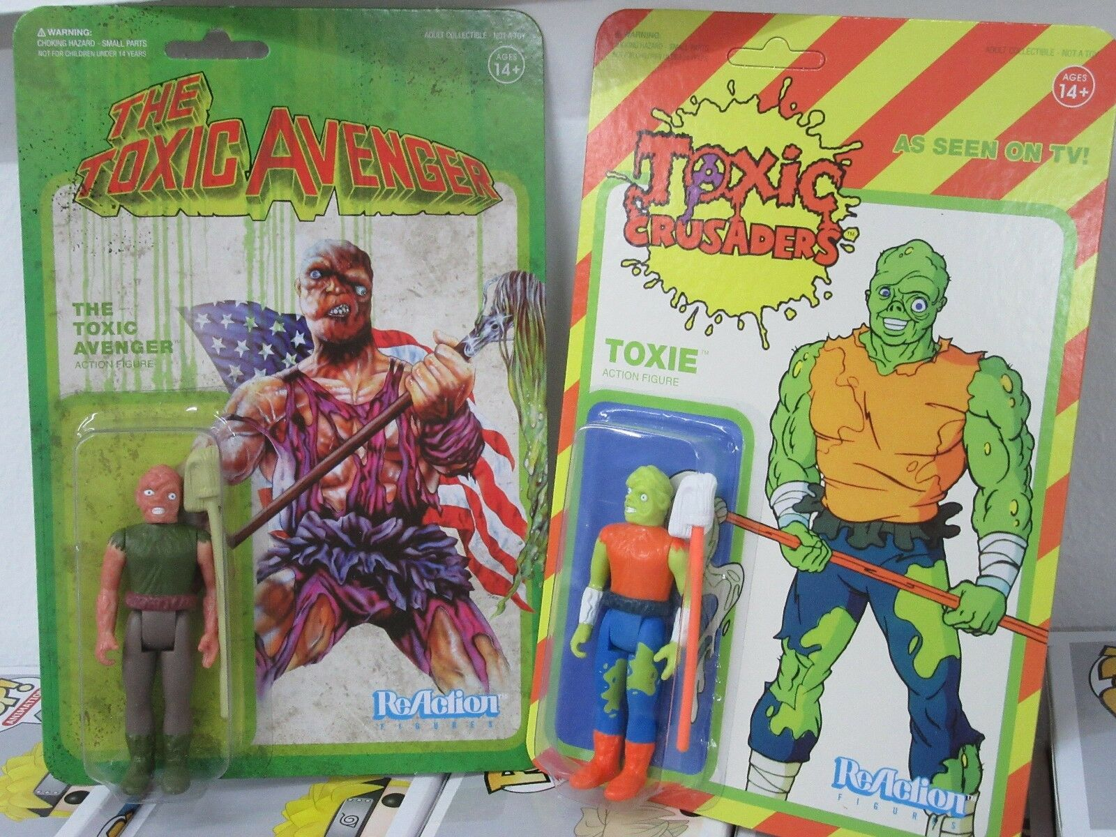 Toxic Avenger / Toxic Crusaders - 2 FIGURES - ReAction - BRAND NEW    Authentic