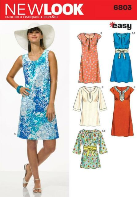 Fab Cute Easy Sun Dresses & Tops Misses Sewing Pattern 6803 10 12 14 ...
