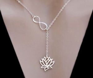 Sterling-Silver-Rose-Gold-Vermeil-Lotus-Infinity-Lariat-Necklace-Yoga-Jewelry