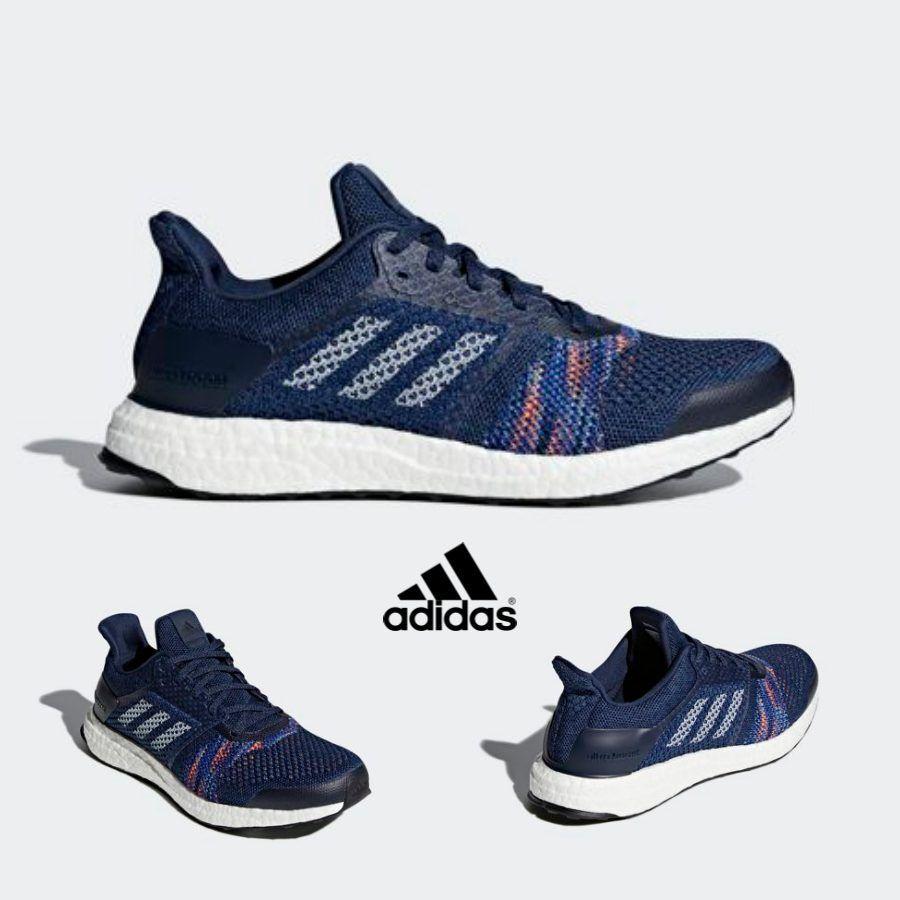 Adidas Ultra Boost Zapatos tenis De Correr Entrenadores St Azul Marino gris CQ2146