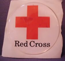 """RED CROSS BLOOD MOBILE  FULL COLOR 2""""  INCH EPOXY DOME CAR DECAL STICKER EMBLEM"""