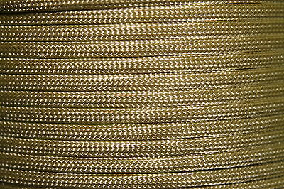 Gold 550 Paracord Mil Spec Type III 7 strand parachute cord 10 - 100 ft