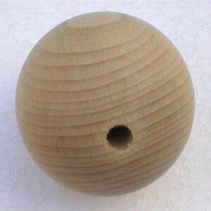 Holzkugeln-60-mm-Kugel-mit-kompletter-Bohrung-Buche-natur-Rohholzkugeln