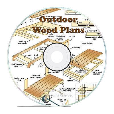 OUTDOOR GARDEN WOOD PLAN, SHED, ARBOR, BARN, DOGHOUSE, BACKYARD BUILD PLANS CD